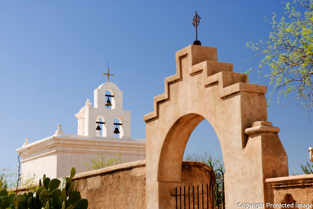 Three bells in a steeple at an Arizona Mission. Missoula Photographer