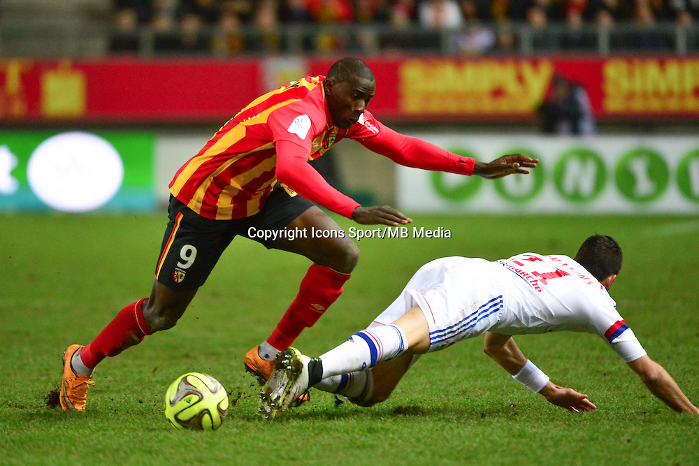Adamo COULIBALY / Maxime GONALONS - 17.01.2015 - Lens / Lyon - 21eme journee de Ligue 1 <br />
