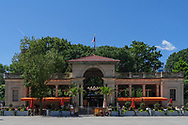 The Pavilion, an outdoor restaurant at Union Square Park in New York City.