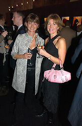 Left to right, SARAH ATKINSON-CLARK and shirt designer EMMA WILLIS at a party hosted by Ruinart Champagne at Claridges, Brook Street, London on 18th October 2006.<br />