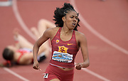 Apr 19, 2019; Torrance, CA, USA;  Breanna Beranrd-Joseph of Southern California runs in a women's 400m hurdles heat during the 61st Mt. San Antonio College Relays at El Camino College.