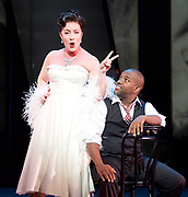 Charlie Parker's Yardbird<br /> by Daniel Schnyder <br /> librettist Bridgette A. Wimberly <br /> English National Opera <br /> at Hackney Empire, London, Great Britain <br /> 7th June 2017 <br /> <br /> <br /> Lawrence Brownlee as Charlie Parker <br /> <br /> <br /> Rachel Sterrenberg as Chan Parker <br /> <br /> <br /> <br />  <br /> Photograph by Elliott Franks <br /> Image licensed to Elliott Franks Photography Services