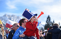 March 22, 2019 - Planica, Slovenia - A kid seen cheering during the FIS Ski Jumping World Cup Flying Hill Individual competition in Planica. (Credit Image: © Milos Vujinovic/SOPA Images via ZUMA Wire)
