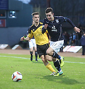 Ryan Conroy goes past Keaghan Jacobs - Dundee v Livingston,  SPFL Championship at Dens Park<br /> <br />  - &copy; David Young - www.davidyoungphoto.co.uk - email: davidyoungphoto@gmail.com