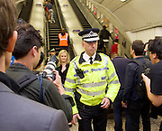 Sadia Khan at London's Night Tube launch at Brixton tube station, London, Great Britain <br /> 19th August 2016 <br /> <br /> Paul Crowther - BTP Chief Constable<br /> <br /> <br /> Sadia Khan, mayor of London,  launched the first night tube service and travelled on a tube train between Brixton and Walthamstow on the Victoria Line. <br />  <br /> He launched the first 24 hour Friday and Saturday night services on the Central and Victoria lines <br /> <br /> Photograph by Elliott Franks <br /> Image licensed to Elliott Franks Photography Services