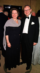 MR & MRS JOHN GUMMER  he is the former Conservative government minister,  at a dinner in London on 29th February 2000.OBS 97