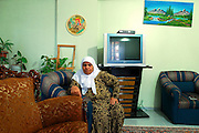 The widow of former chief Ali Yazici in her Diyarbakir apartment
