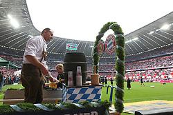 11.05.2013, Allianz Arena, Muenchen, GER, 1. FBL, FC Bayern Muenchen vs FC Augsburg, 33. Runde, im Bild Alles ist vorbereitet für die Meisterfeier, Bierausschank in der Allianz-Arena Muenchen // during the German Bundesliga 33 th round match between FC Bayern Munich and FC Augsburg at the Allianz Arena, Munich, Germany on 2013/05/11. EXPA Pictures © 2013, PhotoCredit: EXPA/ Eibner/ Klaus Rainer Krieger..***** ATTENTION - OUT OF GER *****