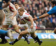 Twickenham, GREAT BRITAIN, Josh LEWSEY, running through, during the  England vs Italy, Six Nations Rugby match,  played at the  RFU Twickenham Stadium on Sat 10.02.2007  [Photo, Peter Spurrier/Intersport-images].....