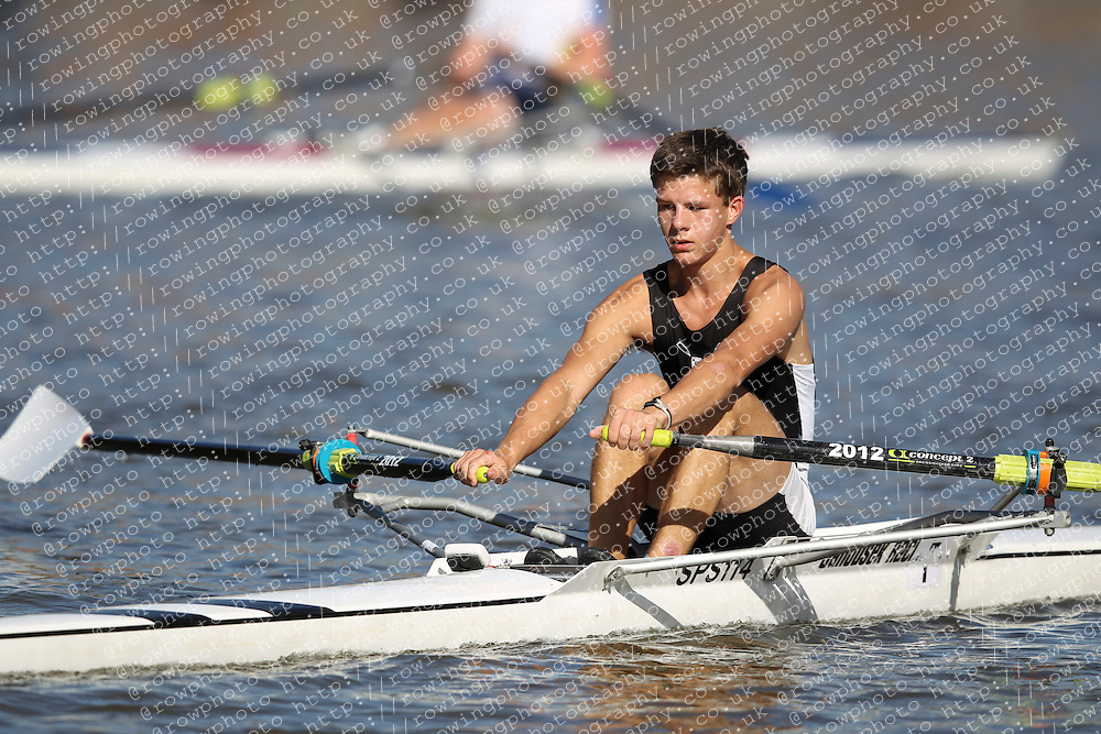 29.09.2012. Wallingford Long Distance Sculls 2012, The River Thames. Division 1. Nov 1x. St Pauls School Boat Club.