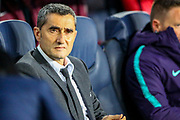 Barcelona manager Ernesto Valverde during the Champions League semi-final leg 1 of 2 match between Barcelona and Liverpool at Camp Nou, Barcelona, Spain on 1 May 2019.