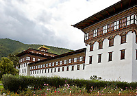 BU00018-00...BHUTAN - Tashichoedzong in the capital city of Thimphu, the center of government for the country.