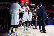 DALLAS, TX - DECEMBER 17: Ben Moore #00 of the SMU Mustangs is introduced before tipoff against the Hampton Pirates on December 17, 2015 at Moody Coliseum in Dallas, Texas.  (Photo by Cooper Neill/Getty Images) *** Local Caption *** Ben Moore