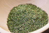 Close up of dried thyme