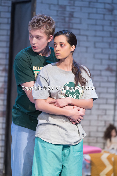 """The Bas Bleu Theatre Company rehearses its production of """"Dirt."""" April 4, 2018."""