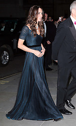 The Duchess of Cambridge arriving at the Portrait Gala 2014: Collecting to Inspire charity event at the National Portrait Gallery in  London, Tuesday, 11th February 2014. Picture by Stephen Lock / i-Images