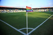 Stonewall UK, Rainbow Laces campaign during the EFL Sky Bet League 1 match between Rochdale and Accrington Stanley at Spotland, Rochdale, England on 24 November 2018.