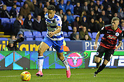 Reading's Nick Blackman attacking down the line during the Sky Bet Championship match between Reading and Queens Park Rangers at the Madejski Stadium, Reading, England on 3 December 2015. Photo by Mark Davies.