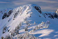 Table Mountain in winter, Heather Meadows Recreation Area North Cascades Washington USA