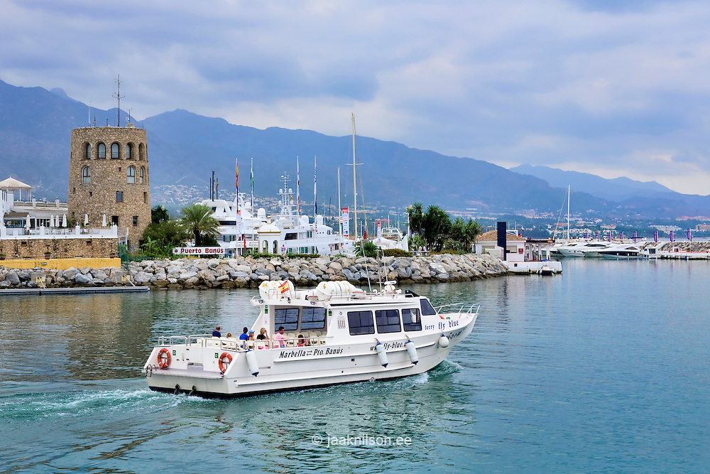 Cruise ship in Puerto Banus near Marbella, Spain