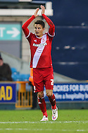 Jelle Vossen of Middlesbrough celebrates scoring his his hatrick to make it 0-4 during the Sky Bet Championship match at The Den, London<br /> Picture by David Horn/Focus Images Ltd +44 7545 970036<br /> 06/12/2014
