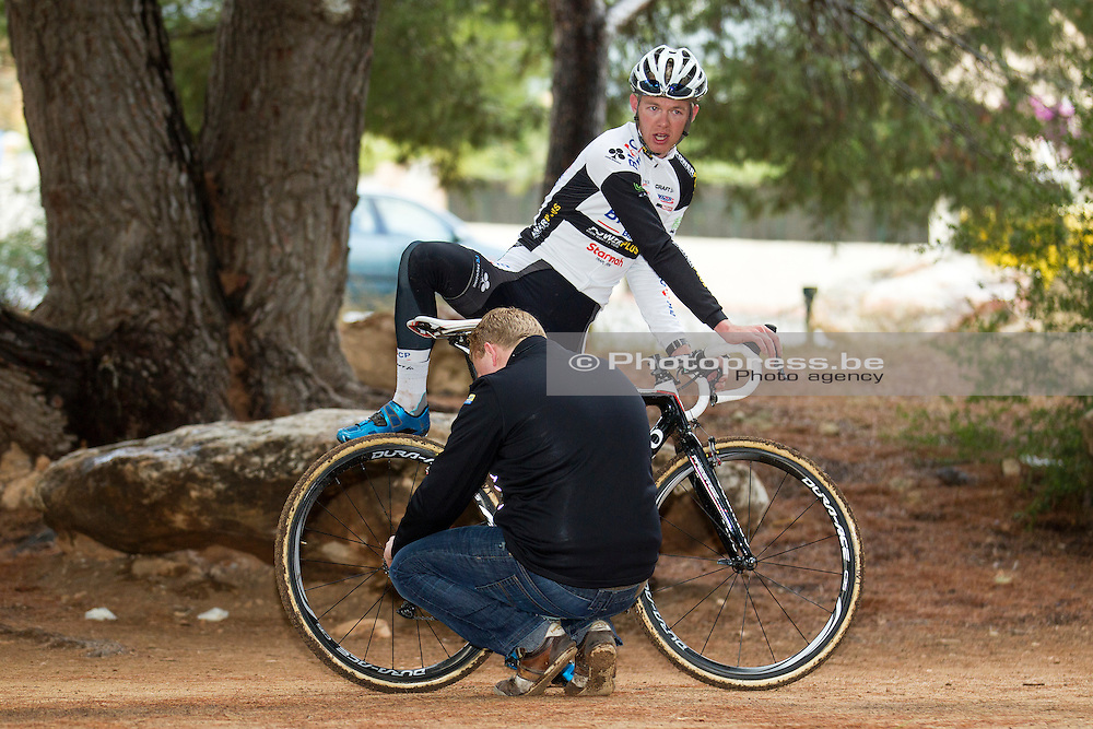 SPAIN / SPANJE / CYCLING / WIELRENNEN / CYCLISME / CYCLOCROSS / VELDRIJDEN / WINTERSTAGE / TRAINING CAMP / SUNWEB - NAPOLEON GAMES CYCLING TEAM / DIETER VANTHOURENHOUT / BART RISBOURG /