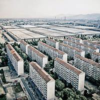 Torino 2013. A Mirafiori, il quartiere operaio simbolo in Italia, le fabbriche si stanno svuotando. <br /> <br /> Turin 2013. A Mirafiori, the symbol of working-class neighborhood in Italy, factories are emptying.