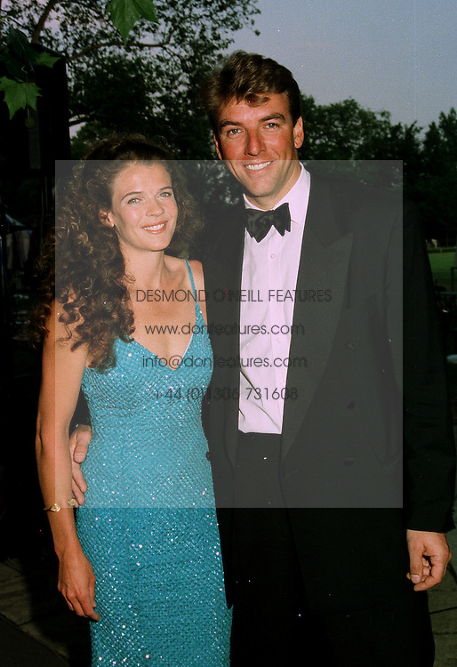 MR & MRS MEL COLEMAN, she is tennis player Annabel Croft, at a ball in London on 17th June 1997.LZL 30