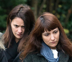 ©  London News Pictures. 27/11/2013. London, UK. Italian Sisters Elisabetta 'Lisa' (left) and Francesca (right, with handbag) Grillo, who are the former personal assistants to Charles Saatchi and Nigella  Lawson, arriving at Isleworth Crown Court in London. The Grillo Sisters Elisabetta and Francesca have both appeared on ITV's This Morning. Photo credit : Ben Cawthra/LNP