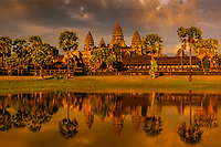 Angkor Wat, the largest religious monument in the world (means City which is a Temple); Cambodia.