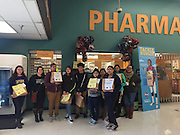 Students from the Sam Houston MSTC encourage grocery shoppers to contribute to the Souper Bowl of Caring.