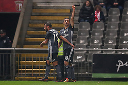 January 13, 2018 - Braga, Braga, Portugal - Benfica's Brazilian forward Jonas  (R) celebrates after scoring a goal during the Premier League 2017/18 match between SC Braga and SL Benfica, at Municipal de Braga Stadium in Braga on January 13, 2018. (Credit Image: © Dpi/NurPhoto via ZUMA Press)