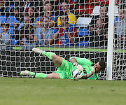 Julian Speroni saves from Charlie Adam - Crystal Palace v Dundee - Julian Speroni testimonial match at Selhurst Park<br /> <br />  - © David Young - www.davidyoungphoto.co.uk - email: davidyoungphoto@gmail.com