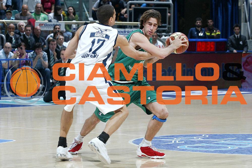DESCRIZIONE : Bologna Lega A1 2005-06 Climamio Fortitudo Bologna Montepaschi Siena<br /> GIOCATORE :Datome<br /> SQUADRA : Montepaschi Siena<br /> EVENTO : Campionato Lega A1 2005-2006 <br /> GARA :Climamio Fortitudo Bologna Montepaschi Siena<br /> DATA : 07/05/2006 <br /> CATEGORIA : Attacco<br /> SPORT : Pallacanestro <br /> AUTORE : Agenzia Ciamillo-Castoria/L.Villani