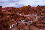 Arch rock campground at the Valley of Fire state park in Southern Nevada about 2 hours outside of Las Vegas.