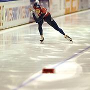 NLD/Heerenveen/20060122 - WK Sprint 2006, 2de 500 meter heren, Joey Cheek