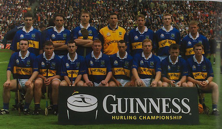 Tipperary-All-Ireland Hurling Champions 2001. Back Row: Thomas Costello, Mark O'Leary, Philip Maher, Brendan Cummins, Eddie Enright, Lar Corbett, Eugene O'Neill. Front Row: Eoin Kelly, John Carroll, Paul Kelly, Eamonn Corcoran, Thomas Dunne (capt), Declan Ryan, David Kennedy, Paul Ormond.