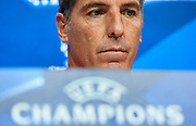 SEVILLE, SPAIN - AUGUST 21:  Head Coach of Sevilla FC Eduardo Berizzo attends the press conference prior to their UEFA Champions League match against Istambul Basaksheir at the Sevilla FC training ground on August 21, 2017 in Seville, Spain.  (Photo by Aitor Alcalde Colomer/Getty Images)