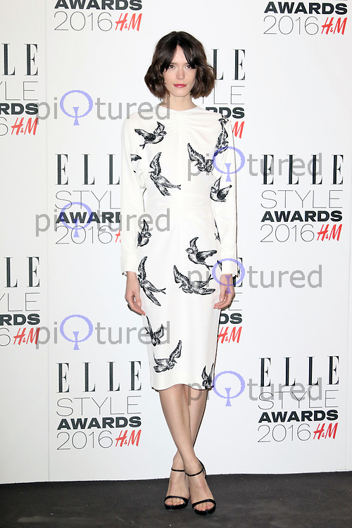 Stacy Martin, ELLE Style Awards 2016, Millbank London UK, 23 February 2016, Photo by Richard Goldschmidt