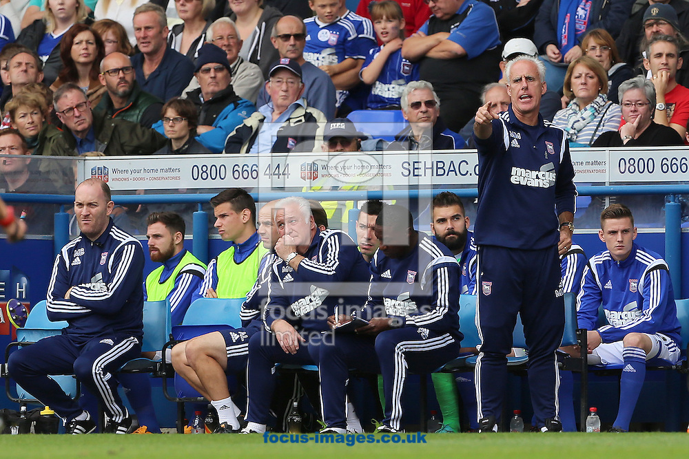 Manager of Ipswich Town, Mick McCarthy (right) during the Sky Bet Championship match against Blackburn Rovers at Portman Road, Ipswich<br /> Picture by Richard Calver/Focus Images Ltd +447792 981244<br /> 18/10/2014