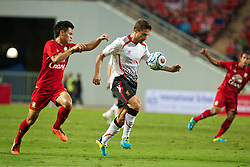 BANGKOK, THAILAND - Sunday, July 28, 2013: Liverpool's Fabio Borini in action against Thailand XI during a preseason friendly match at the Rajamangala National Stadium. (Pic by David Rawcliffe/Propaganda)