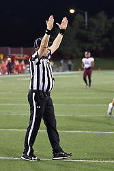 15 October 2016:  Back Judge Gary Crull. NCAA FCS Football game between Southern Illinois Salukis and Illinois State Redbirds at Hancock Stadium in Normal IL (Photo by Alan Look)