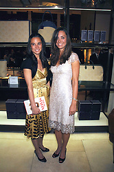 Left to right, sisters PIPPA MIDDLETON and KATE MIDDLETON  at a party to celebrate the publication of 'Young Stalin' by Simon Sebag-Montefiore at Asprey, New Bond Street, London on 14th May 2007.<br />