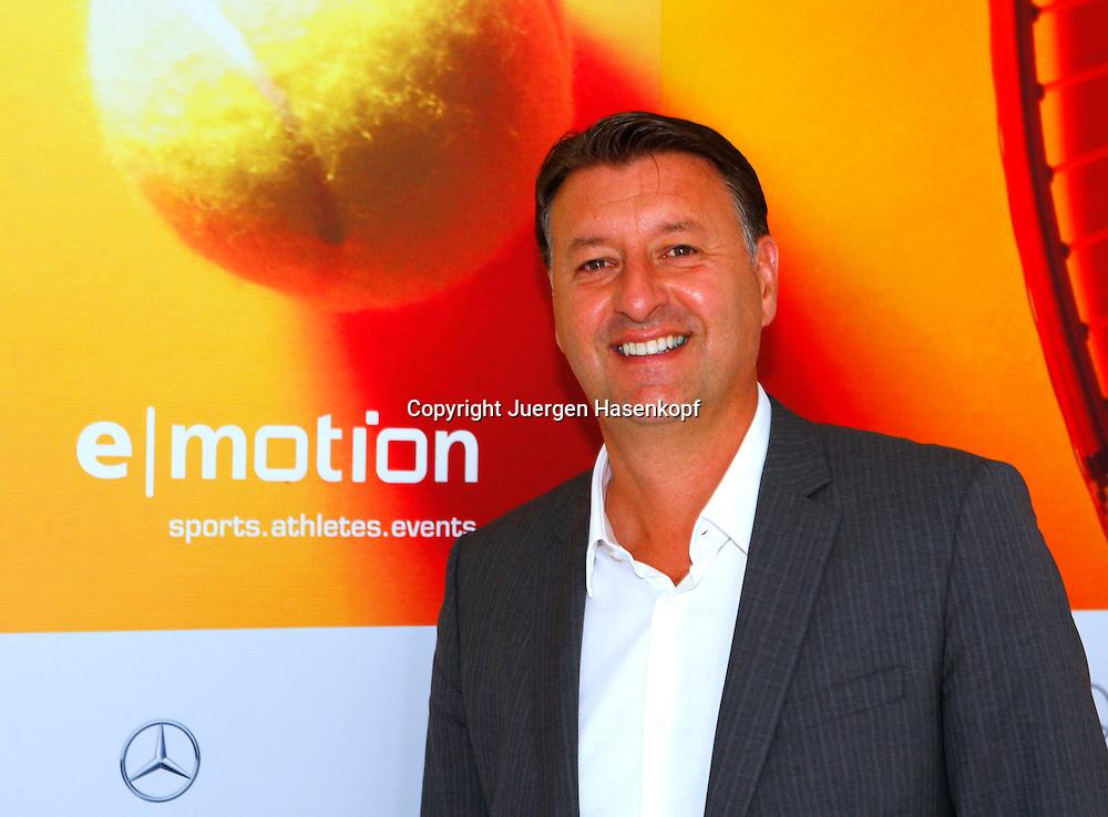 ATP Tennis Turnier im TC Weissenhof Klub,Stuttgart,  Edwin Weindorfer (AUT)Geschaeftsfuehrer der.. e I motion management gmbh,Portrait,