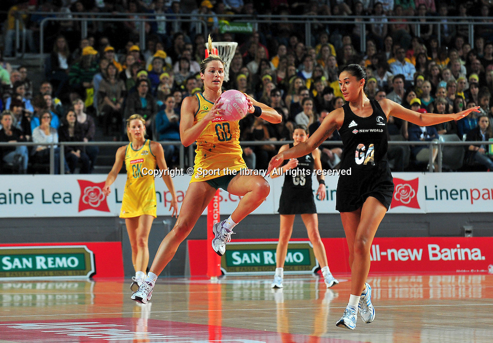 Julie Corletto (AUS)<br /> 2011 Holden Netball Test Series<br /> Australia vs New Zealand <br />  Sunday 30 October 2011<br /> Hisense Arena/ Melbourne Australia <br /> &copy; Sport the library / Jeff Crow