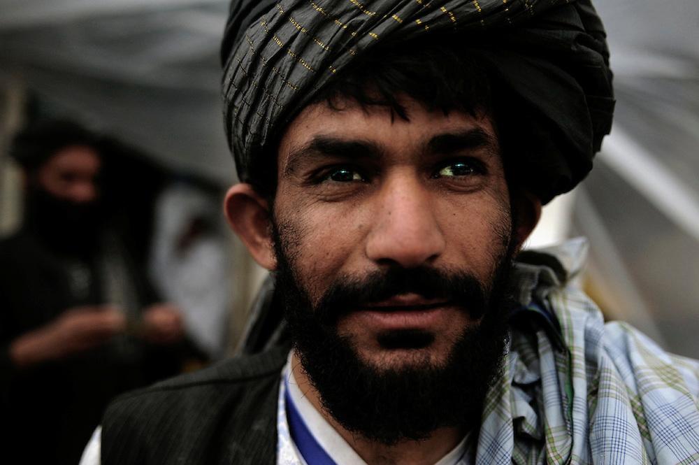 Portrait of a Taliban man in Kandahar, Afghanistan.