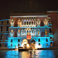 VENICE, ITALY - MARCH 05:  Palazzo Pisani Moretta seen from the Gran Canal, lit up for the annual Ballo del Doge on March 5, 2011 in Venice, Italy. The Ballo del Doge, created by fashion and costume designer Antonia Sautter, is considered the most elegant and exclusive masquerade ball during the Venice Carnival.