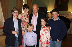 NICHOLAS & GEORGIA COLERIDGE with their children left to right, ALEXANDER, TOMMY, SOPHIE and FREDDIE at a party to celebrate the publication of 'A Much Married Man' by Nicholas Coleridge held at the ESU, Dartmouth House,  37 Charles Street, London W1 on 4th May 2006.<br /><br />NON EXCLUSIVE - WORLD RIGHTS