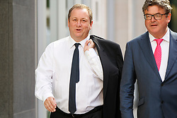 © Licensed to London News Pictures. 05/07/2017. London, UK. Newcastle United FC owner and majority shareholder of Sports Direct MIKE ASHLEY arrives at the High Court in London on 5 July 2017. Mr Ashley is in dispute with financial expert Jeff Blue over payments promised in relation to the share price of Sports Direct. Photo credit: Tolga Akmen/LNP