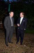 Nick Mason and Andrew Parker-Bowles, Cartier party, Chelsea Physic Garden. 19 May 2003. © Copyright Photograph by Dafydd Jones 66 Stockwell Park Rd. London SW9 0DA Tel 020 7733 0108 www.dafjones.com